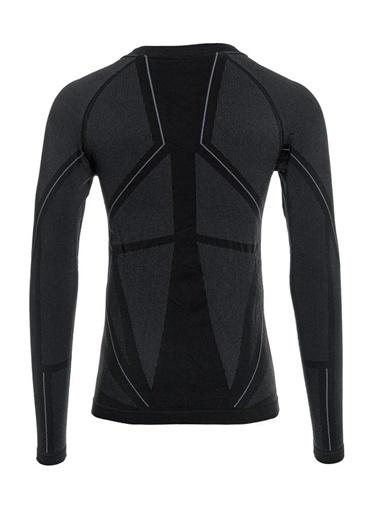 Panthzer  Extreme Muscle Uzun Kollu Polygiene Erkek Üst Içlik Siyah/Gri Renkli